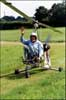 Ken Wallis in his gyro