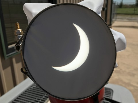 Eclipse at Max Obscuration for Wichita Falls