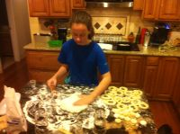 Alex Rolling Out the Fastnacht Dough
