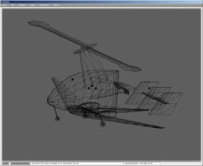 Plane-Maker Screenshot: Wireframe of Aircraft Model
